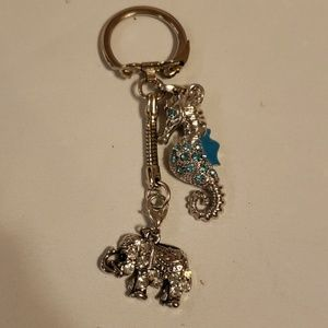Elephant and Seahorse keychain